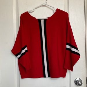 2/$20 🌷 Say What Red striped sweater